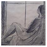 Girl in the Window, 2011 (charcoal on paper)