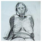Girl Reclining, 2011 (charcoal on paper)
