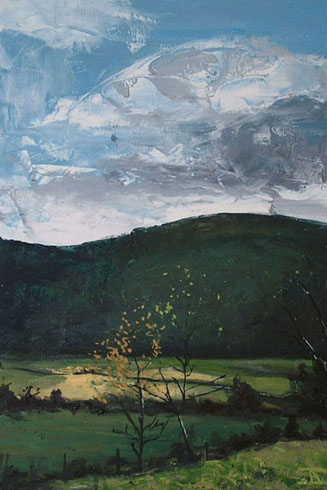 Autumn North of Rothes, 2008 (oil on linen)