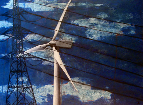 Beyond the Power Lines, 2008 (oil on canvas)