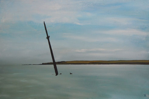 Lone Flow Guardian, 2011 (oil on canvas)
