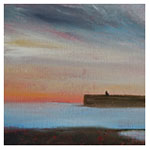 Evening over the Broch, 2011 (oil on canvas on board)