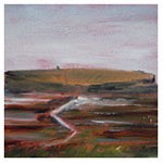 Low Tide at the Broch, 2011 (oil on canvas on board)